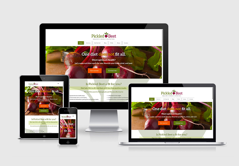 Pickled Beet Website Design