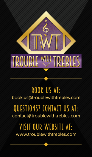 Trouble with Trebles Business Card Design - front