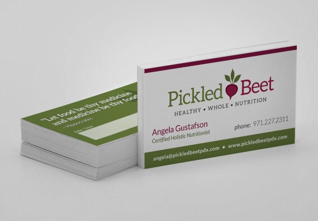Pickled Beet Business Card Design