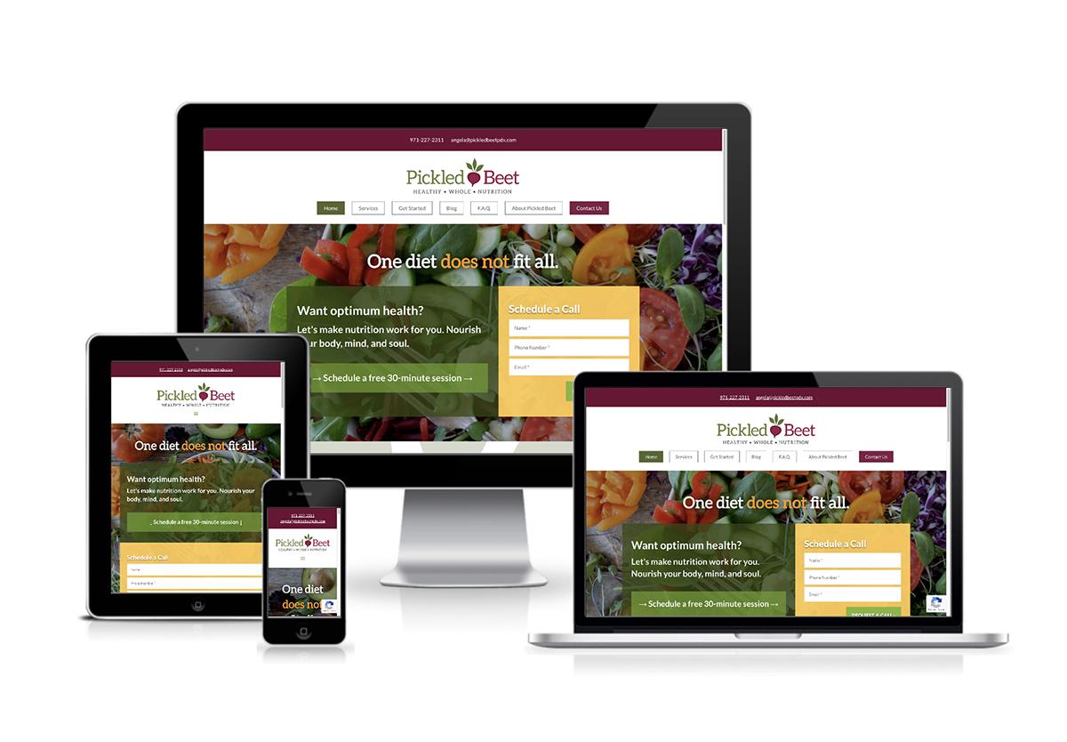 Pickled Beet Nutrition - Website Design