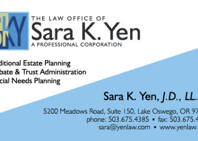 Yenlaw Business Card - Front