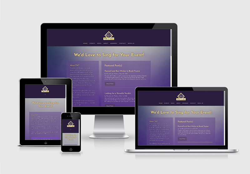 Trouble with Trebles Vocal Ensemble Website Design