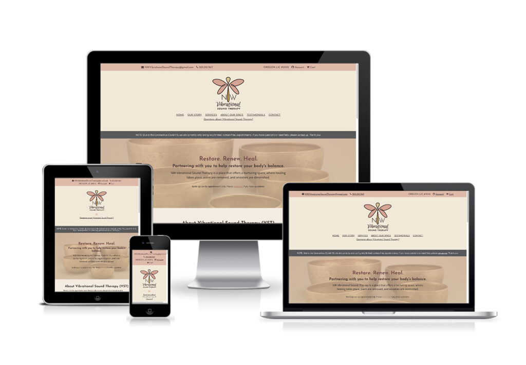 NW Vibrational Sound Therapy - Website Design