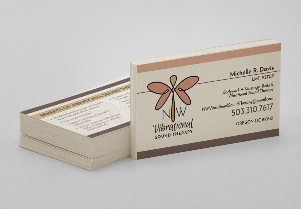 NW Vibrational Sound Therapy - Business Card Design
