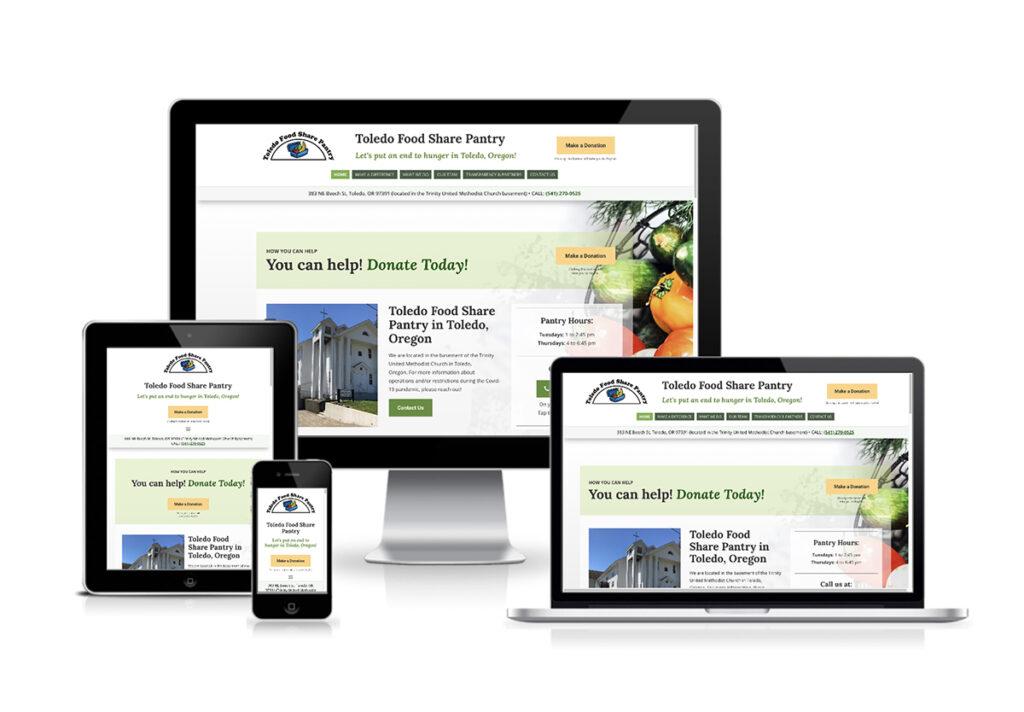 Toledo Food Pantry - Website Design
